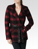 Paige Leona Coat - Red & Black Plaid