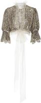 Rodarte Sequin Embellished Cropped Blouse