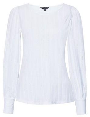 Dorothy Perkins Womens White Textured Top, White