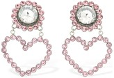 Safsafu LOVE ME PINK CLIP-ON EARRINGS