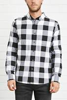 Forever 21 Slim-Fit Plaid Shirt