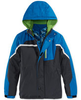 London Fog F.O.G. by Boys' Colorblocked 2-in-1 Hooded Systems Jacket