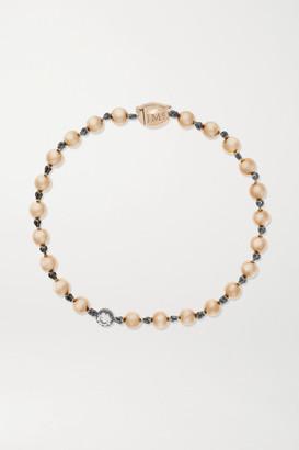 Jessica McCormack Ball N Chain 18-karat Rose Gold And Blackened Platinum Diamond Bracelet - One size