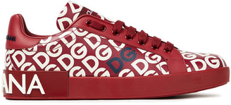 Dolce & Gabbana Mania Printed Leather Sneakers