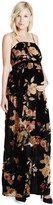 Motherhood Jessica Simpson Velvet Floral Maternity Maxi Dress