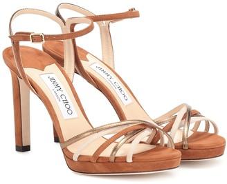 Jimmy Choo Lilah 100 suede sandals