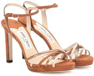 Jimmy Choo Lilah 100 suede sandals
