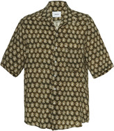 Nanushka Printed Cupro Camp-Collar Shirt