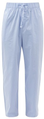 Tekla - Striped Organic-cotton Pyjama Trousers - Light Blue