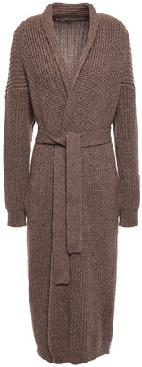 Agnona Belted Ribbed Cashmere Cardigan