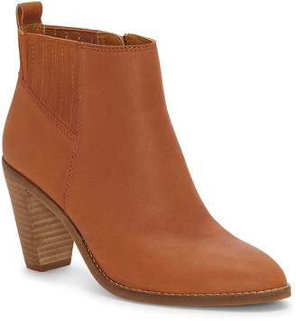 Lucky Brand Women's Casual boots WHISKEY - Whiskey Nesly Leather Bootie - Women