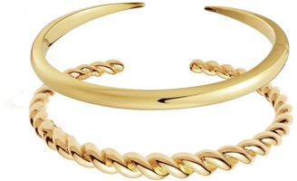 Missoma Gold Twist and Claw Bracelet Set