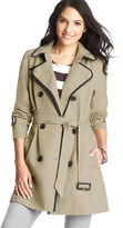 LOFT Tall Tipped Cotton Canvas Trench