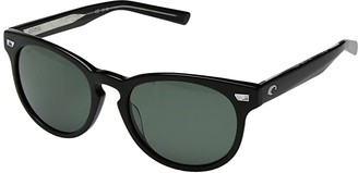 Costa del Mar Shiny Black Frame/Gray 580G) Athletic Performance Sport Sunglasses