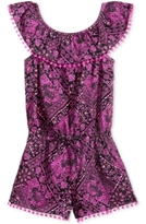 Epic Threads Bandana-Print Off-The-Shoulder Romper, Little Girls (4-6X), Created for Macy's