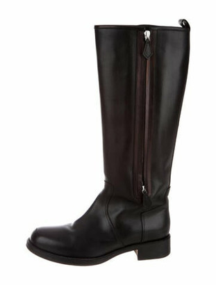Hermes Equestrian Land Leather Riding Boots Black