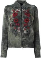 Avant Toi 'roses' embroidered cardigan