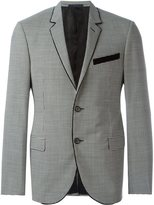 Lanvin checked blazer - men - Spandex/Elastane/Cupro/Wool - 46