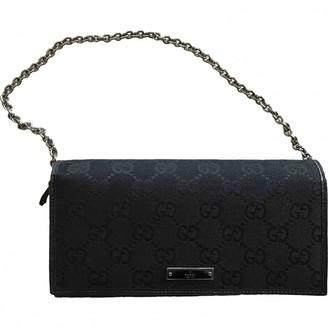 Gucci Black Cloth Wallets