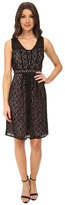 Adrianna Papell Sweetheart Sheer Fit and Flare Skirt