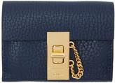 Chloé Navy Mini Drew Wallet