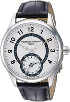 Frederique Constant Men's 'HSW' Swiss Quartz Stainless Steel and Leather Casual Watch, Color:Black (Model: FC-285SDG5B6)