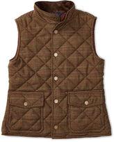 Ralph Lauren Quilted Tweed Snap-Front Vest