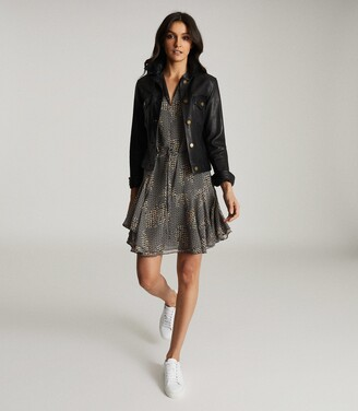 Reiss Stefania - Printed Day Dress in Multi