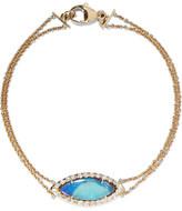 Kimberly McDonald - 18-karat Gold, Opal And Diamond Bracelet - one size