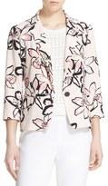 Kate Spade 'tiger Lily' Print One-Button Blazer