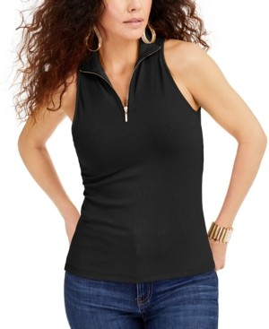 Thalia Sodi Zip-Front Halter Top, Created for Macys