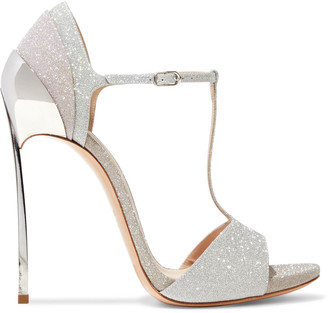 Casadei Glittered Leather Sandals