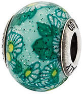 Murano Prerogatives Sterling Green Floral Italian Bead