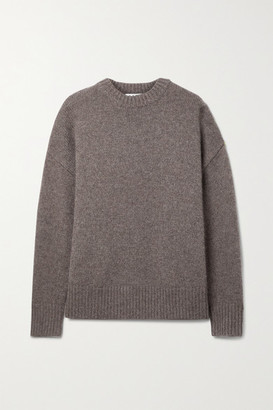 Co Oversized Wool And Cashmere-blend Sweater - Brown