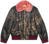Gucci GucciGhost hand-painted bomber