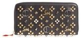 Christian Louboutin Women's Panettone Spiked Calfskin Wallet - Black
