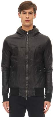 Giorgio Brato Hooded Stretch Leather Jacket
