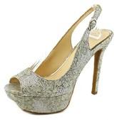 Jessica Simpson Tacey Women Open Toe Canvas Platform Sandal.