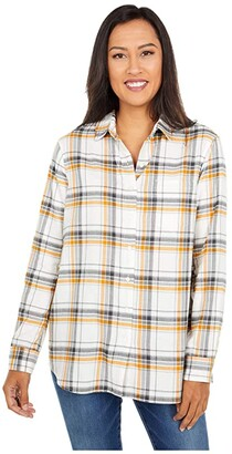 Pendleton Primary Flannel Shirt (Ivory/Inca Gold) Women's Clothing