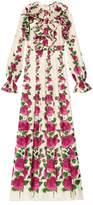 Gucci Rose Garden print gown
