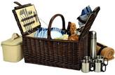 Picnic at Ascot Buckingham Picnic Basket for 4 w/Blanket & Coffee Set