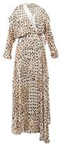 Preen by Thornton Bregazzi Pura Kyoto Woodblock-print Fil-coupe Wrap Dress - Womens - Ivory Multi