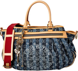 Louis Vuitton Blue Monogram Denim Cabas Raye Gm