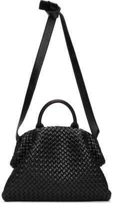 Bottega Veneta Black Intrecciato The Handle Bag