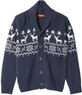 Joe Fresh Kid Boys' Nordic Knit Cardigan, Light Navy (Size M)