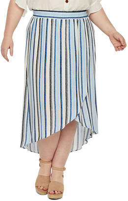 Alyx Womens Mid Rise Tulip Front Skirt - Plus