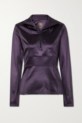 Goldbergh Melanie Stretch Satin-jersey Turtleneck Top - Purple