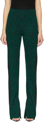 Victor Glemaud Green and Black Flared Lounge Pants