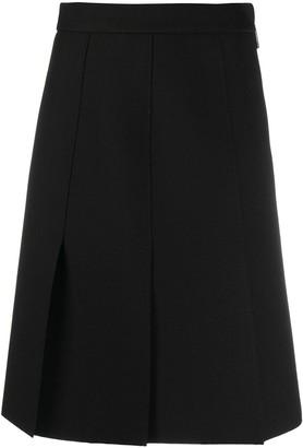 MSGM Pleated Knee-Length Skirt