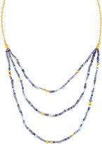 Gurhan Delicate Flurries Beaded Triple-Row Bib Necklace